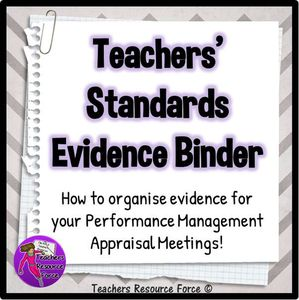 Performance Management: Teachers' Standards Evidence Binder With Performance Related Pay now in full swing for teachers, it is more important than ever to document the evidence to prove that you are meeting the standard requirements which enable you to earn a pay rise, or at least remain at the top of the scale. Oftentimes during appraisal meeting time in September, we are reflecting on our achievements from the previous academic year but it can be difficult to remember everything we have…