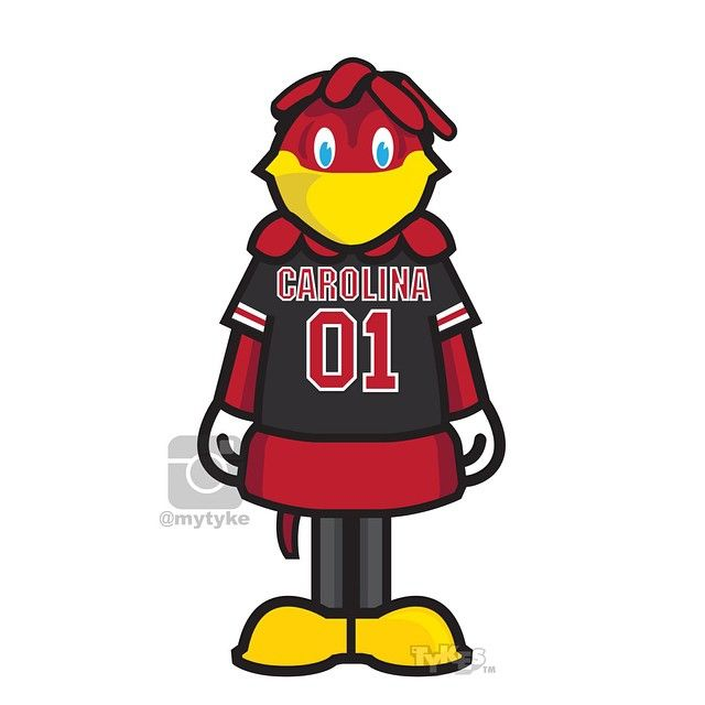 """Cocky"" the South Carolina Mascot ""College Football Kickoff"" Tyke. #Cocky #Gamecocks #SEC #football #collegefootball #tyke #tykes www.tykes.co"