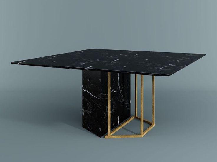 Descarga el catálogo y solicita al fabricante Plinto | mesa cuadrada by Meridiani, mesa de comedor cuadrada diseño Andrea Parisio, colección Plinto