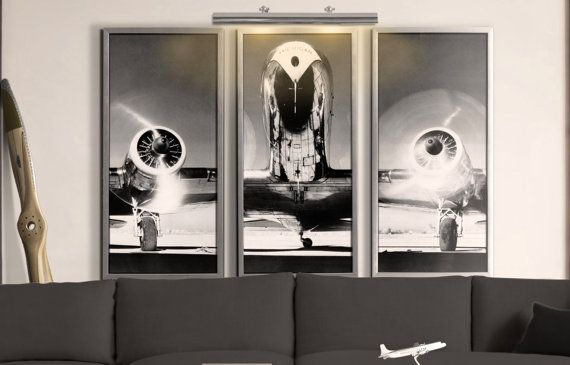 25 best ideas about airplane art on pinterest airplane decor airplane flying and plane window - Vintage airplane triptych ...