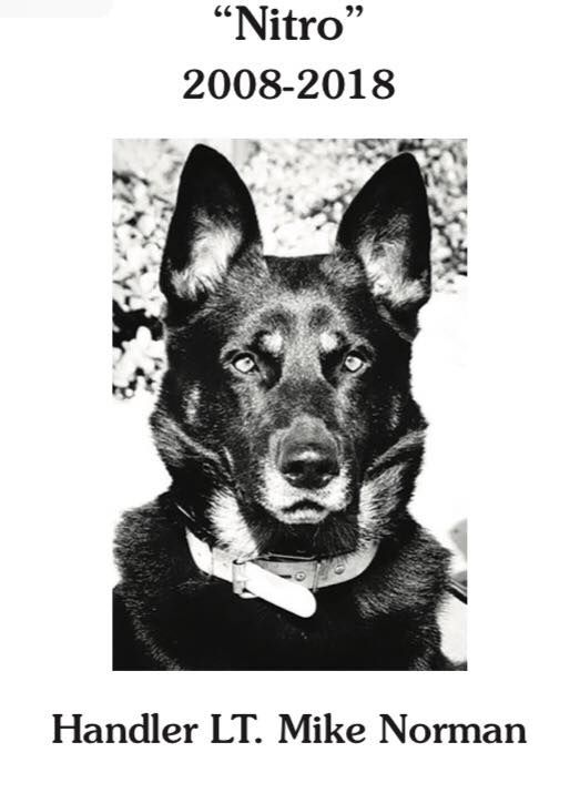 The longest working dog in the Oklahoma Highway Patrol bomb