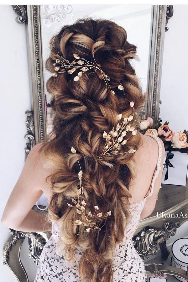 Ulyana Aster Long Wedding Hairstyles & Updos 3 / http://www.deerpearlflowers.com/romantic-bridal-wedding-hairstyles/3/