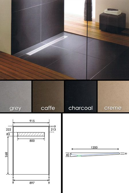 Designer Tiled Shower Tray with Channel Drain (60B) living house