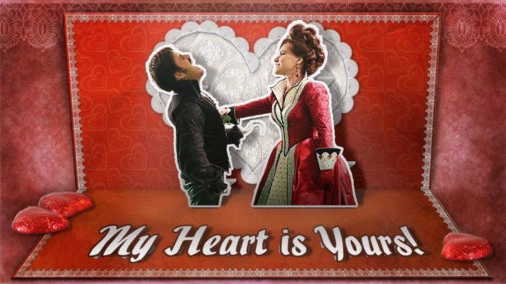 Once Upon a Time valentine Hook and Cora