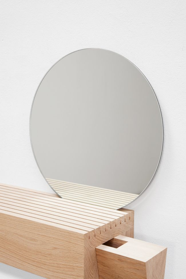 Furniture design: bathroom mirror and beautiful wood shelf/storage unit. MOYARD-EDITION-06