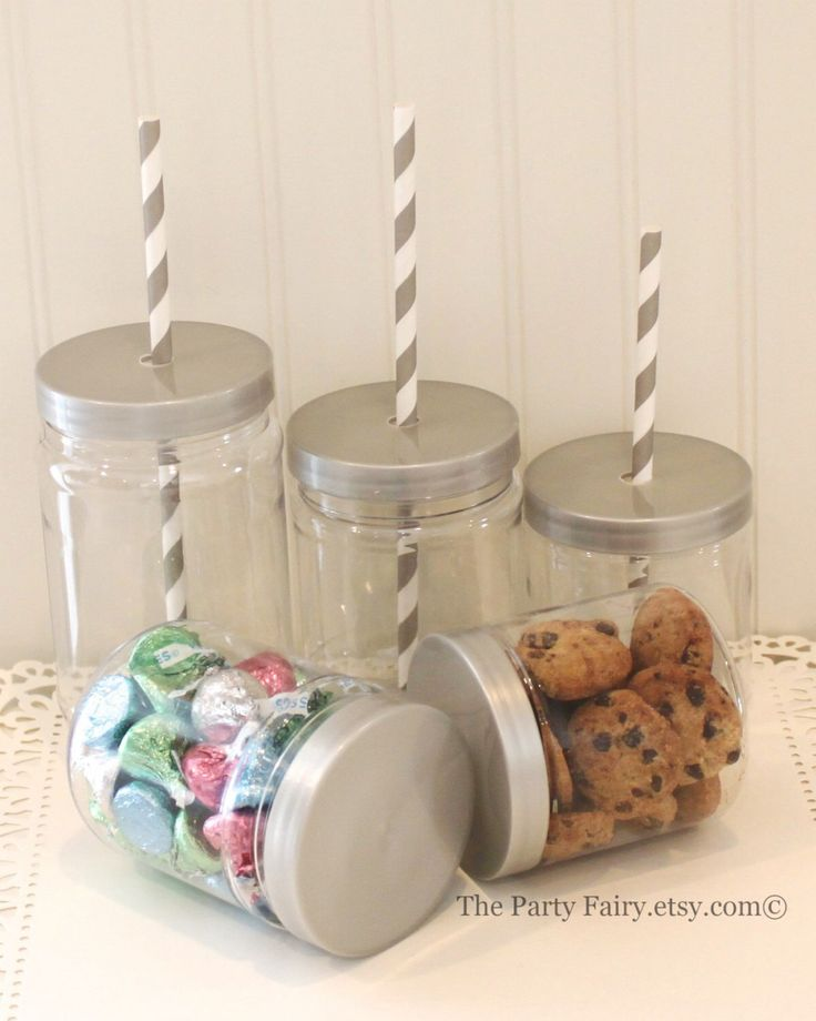 Plastic Mason Jar,12 Plastic Mason Jars with Lids, Plastic Jar, SEAL TIGHT & SPILL Proof Lids, Mason Jar Wedding Favors, Plastic  Candy Jars by ThePartyFairy on Etsy https://www.etsy.com/listing/223377501/plastic-mason-jar12-plastic-mason-jars