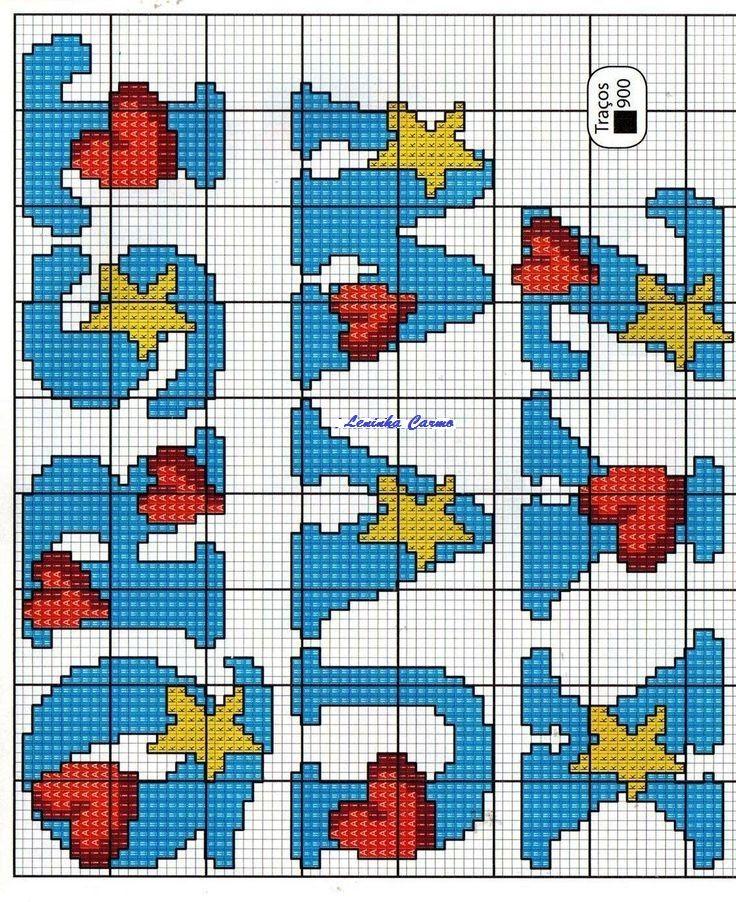 ABC mit Herzen und Sternen 2