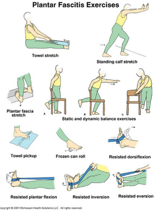 Plantar Fasciitis Exercises - we'll see if these add anything to what the PT gives me.