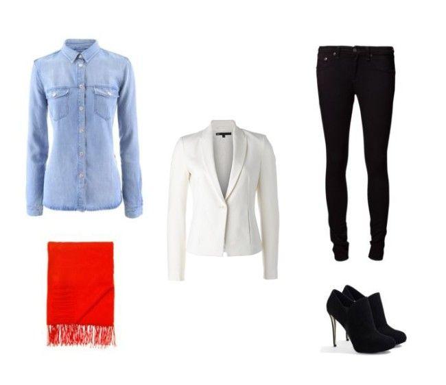 Een witte blazer (WE Fashion, 69.95 euro) combineer je nu al met een stijlvolle broek, een jeanshemdje én korte laarsjes.