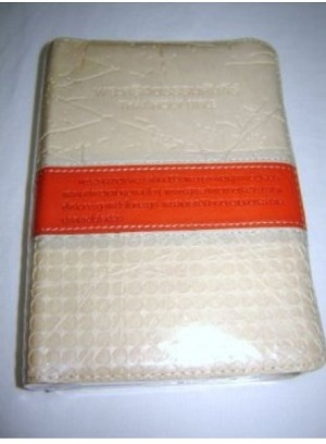 Thai Language Holy Bible / Midsize Leather with Gray edges [Leather Bound]