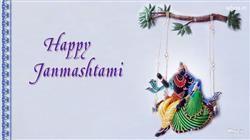Happy Janmashtami Radhe Krishna Art Hd Wallpap,Happy Janmashtami Greetings With Shree Krishna Birthday Greetings For Janmashtami Festival HD Wallpaper