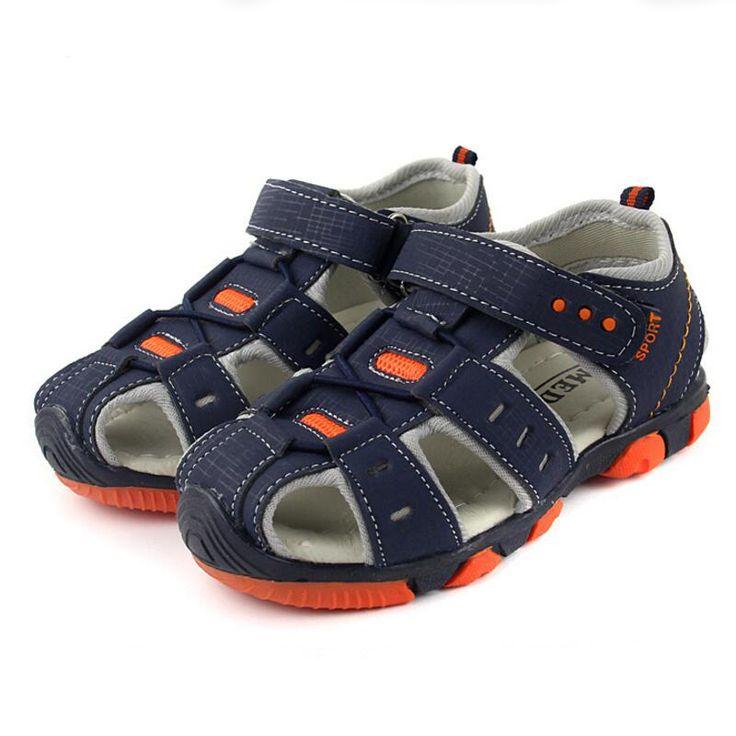 Super Nouvelle arrivée 1 paire PU en cuir De Mode D'été Enfants Sandales Chaussures, enfants Bébé Chaussures Souples