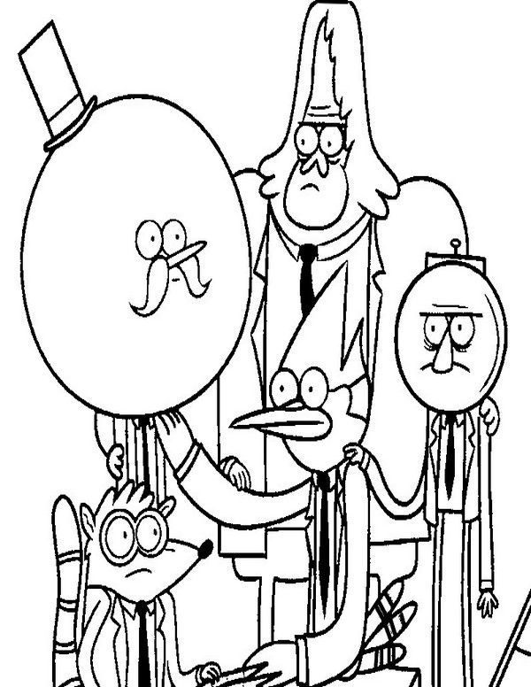 Regular Show Coloring pages 1 | Coloring pages, Regular ...