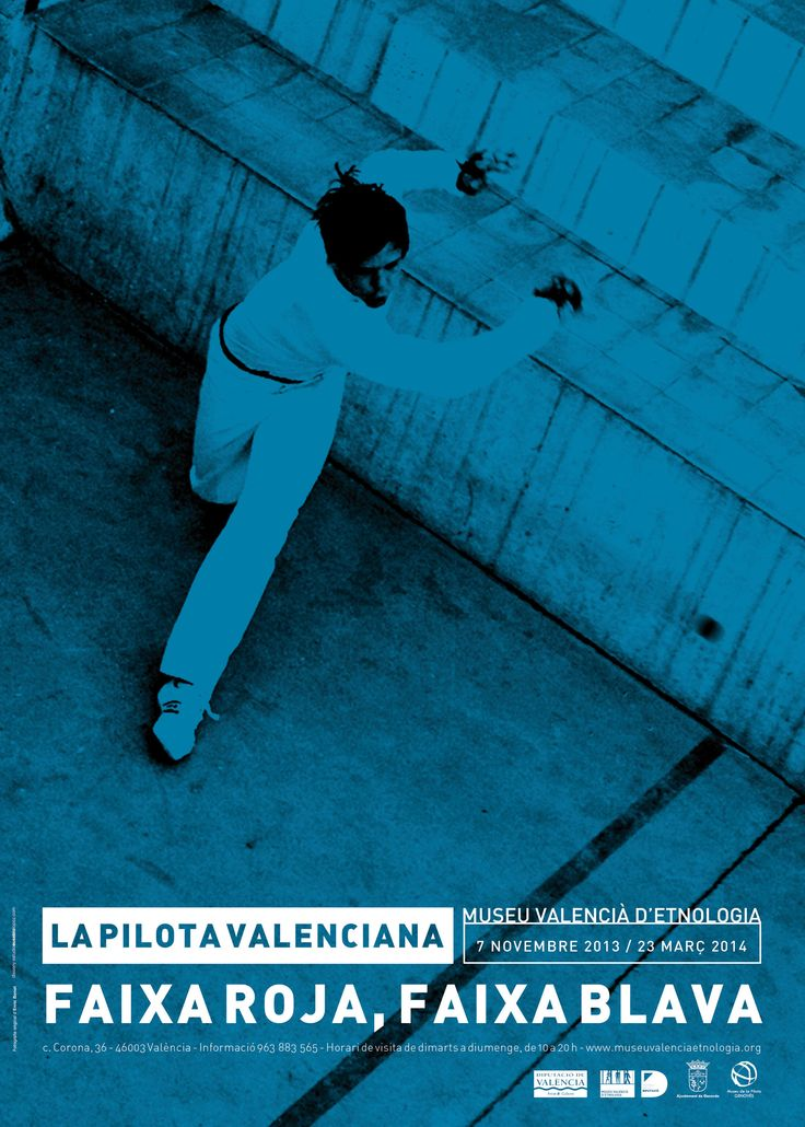 "Cartel de la Exposición ""Faixa roja, Faixa blava"" en La Beneficència"