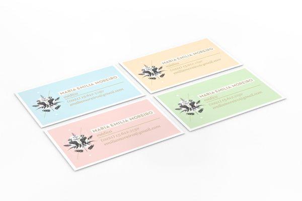 : Médica Business, Emilia Business, Card Designs, Gorgeous Business, Business Card Design, Colors Palettes, Moreiro Business, Pastel Colors, Business Cards Design