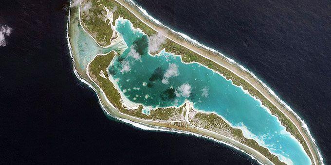 Η απίστευτη ομορφιά της Γης… από ψηλά! Νησάκι του Κιριμπάτι στον Ειρηνικό