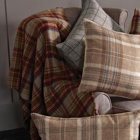 checked tweed throw dunelm home bedroom tweed. Black Bedroom Furniture Sets. Home Design Ideas