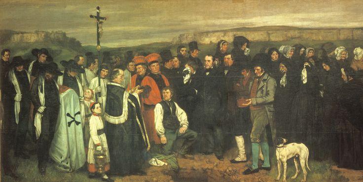 """""""Funerali a Ornans"""" - Courbet"""