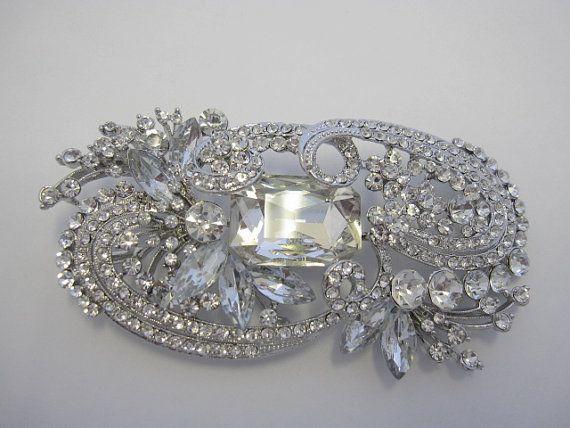 Swarovski Crystal Brooch PinThe Great Gatsby by jojosupply on Etsy, $26.00