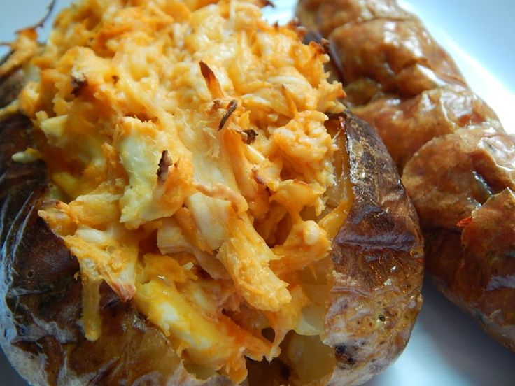 Buffalo chicken stuffed baked potato by drizzle me skinny
