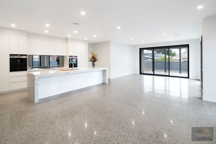 A clean and fresh look with beautiful polished concrete floors