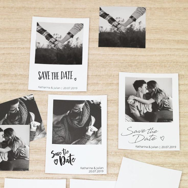 Save The Date Karte.Diy Save The Date Karten Vorlagen Als Polaroid Birthday Invitation