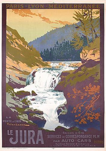 PLM - Le Jura - illustration de Julien Lacaze - 1922 - France -