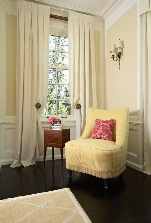 I like these inverted box pleats with button detail   traditional living  room by RLH Studio48 best Benjamin Moore Color Trends 2013 images on Pinterest  . 2013 Living Room Color Trends. Home Design Ideas