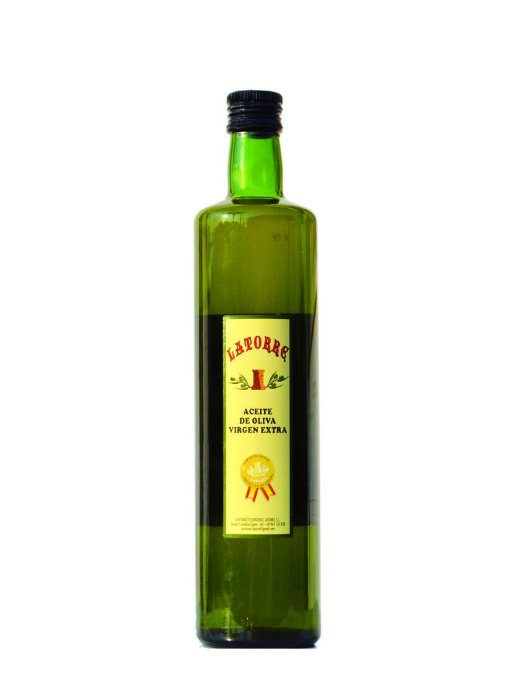 Botella de crista Aceite de Oliva Virgen Extra 750 ml