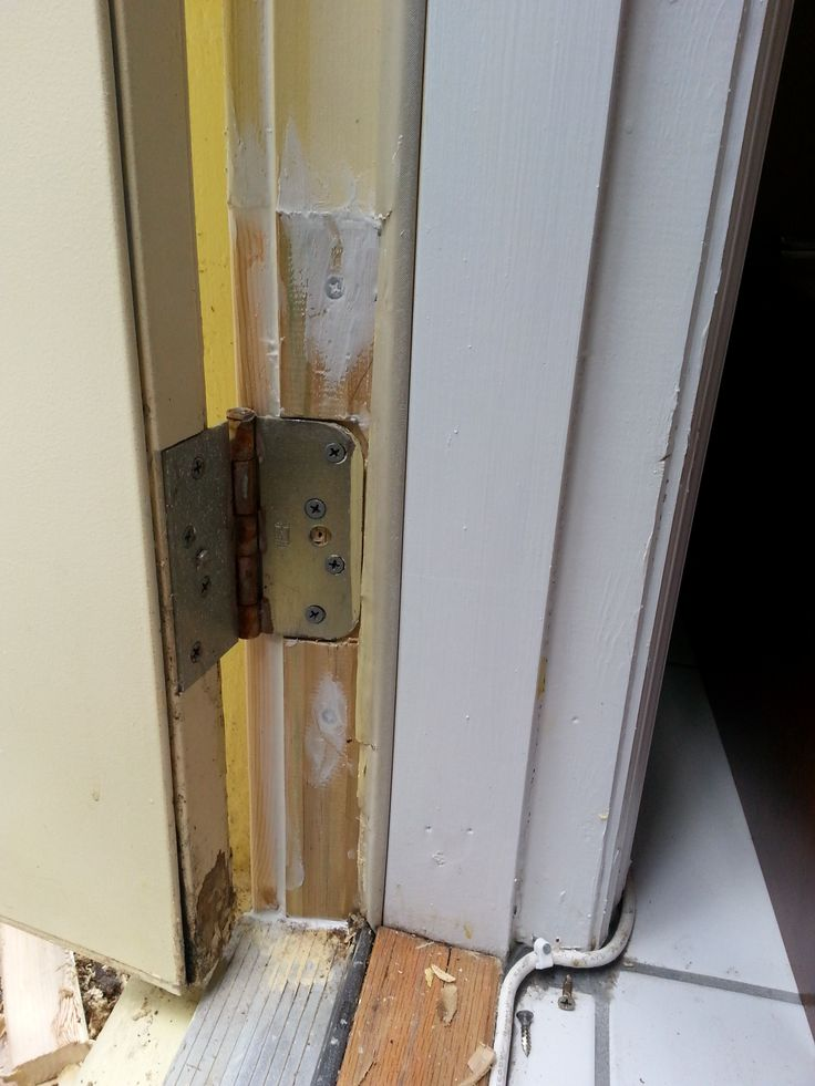 AFTER Repaired Damaged Door Jamb And Replaced The Rotted Wood. Saved The  Whole Door Frame