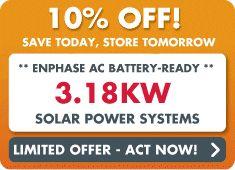 Battery ready solar special