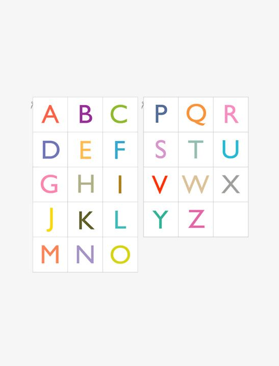 Printable Alphabet Cards - Mr Printables