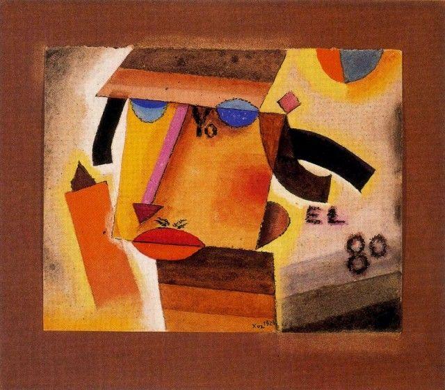 Yo el 80 - Xul Solar (Oscar Agustin Alejandro Schulz Solari) - argentino (1887-1963)