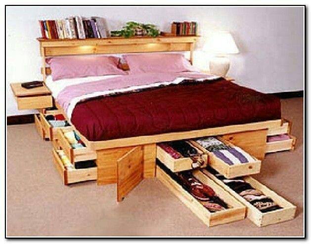 Hidden Storage Ideas Bed Storage
