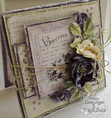 Tattered Treasures: 'Violettes' All Occasion Card for Frilly and Funkie!