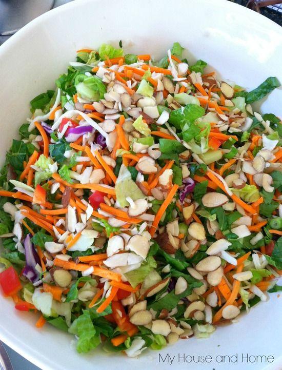 Asian Chopped Salad - Add chicken and crunchy asian noodles