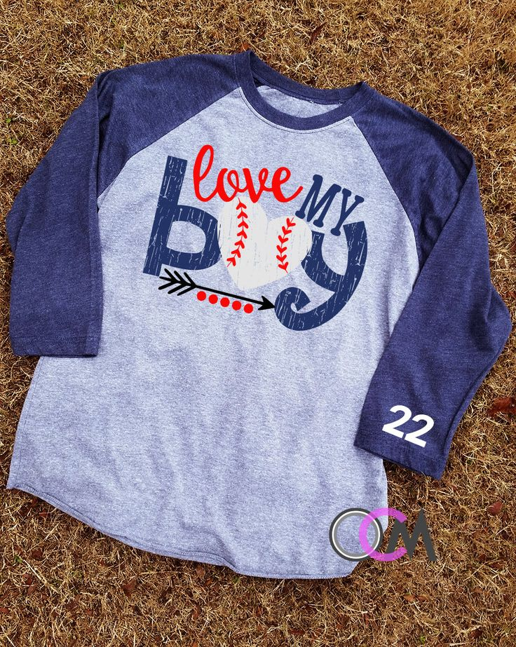 Love My Boy Baseball Shirt, Baseball Mom Shirt - Raglan