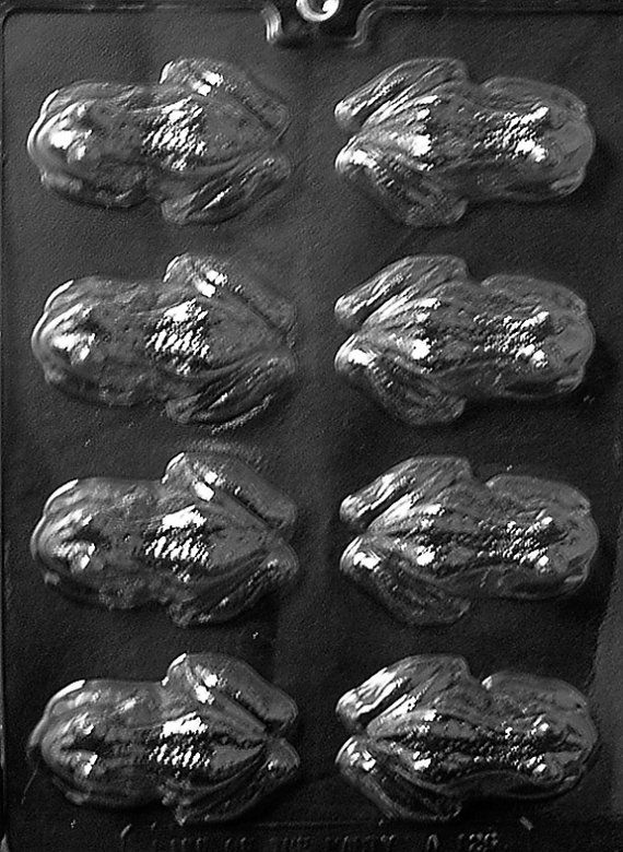 Frog Chocolate Candy Mold with Exclusive FlavorTools Copyrighted Chocolate Molding Instructions A126