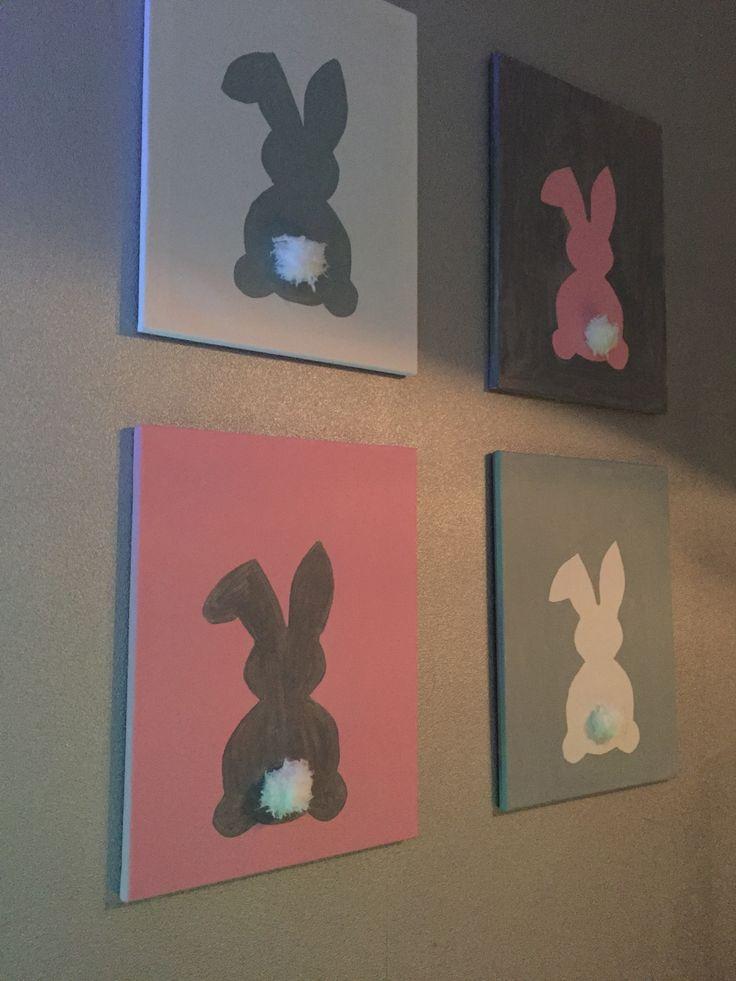 Pastel paas schilderijtjes met staartje