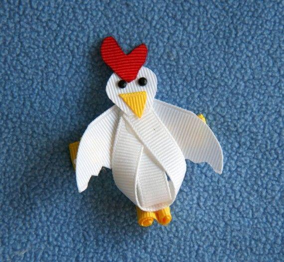 Chicken Ribbon Sculpture Hair Clip