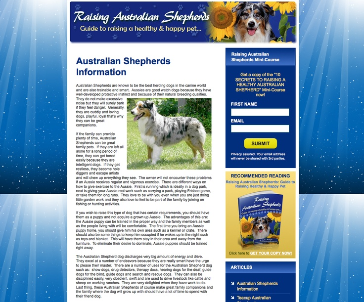 62 best australian shepard images on pinterest the ojays 3 i the site comes with an ebook and the mini course 10 secrets to raising a haelthy australian sheppard the site is 11 months old fandeluxe PDF