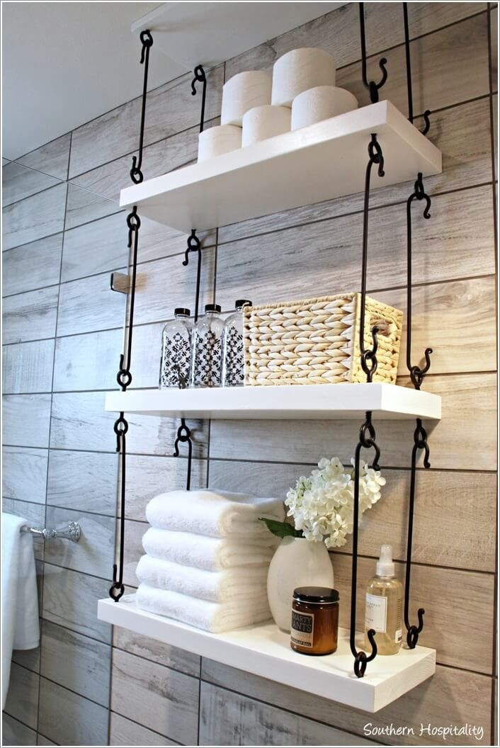 10 Cool Ways to Decorate with Suspended Shelves 3                              …