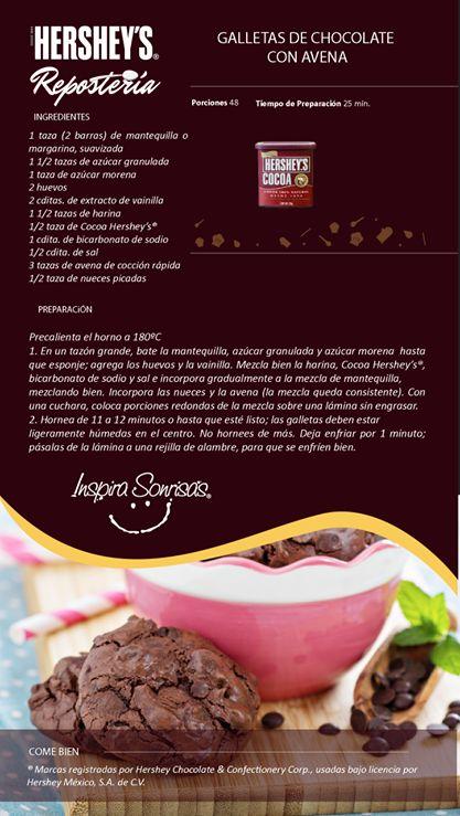 ¿Se te antojaron unas galletas? Mira esta deliciosa opción hecha con Cocoa Hershey's®: