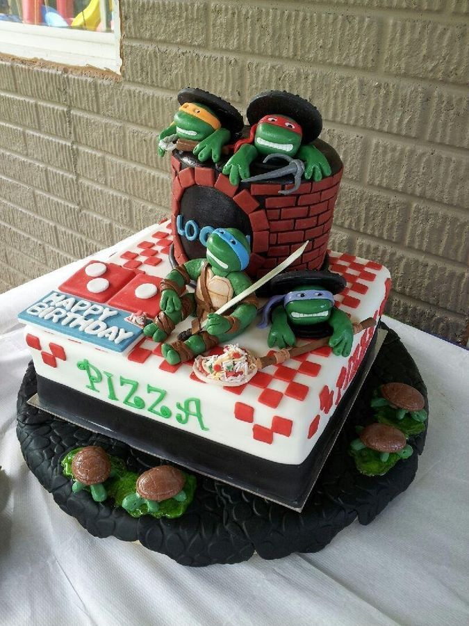 ... Cakes on Pinterest | Tmnt cake, Ninja turtle birthday cake and Ninja