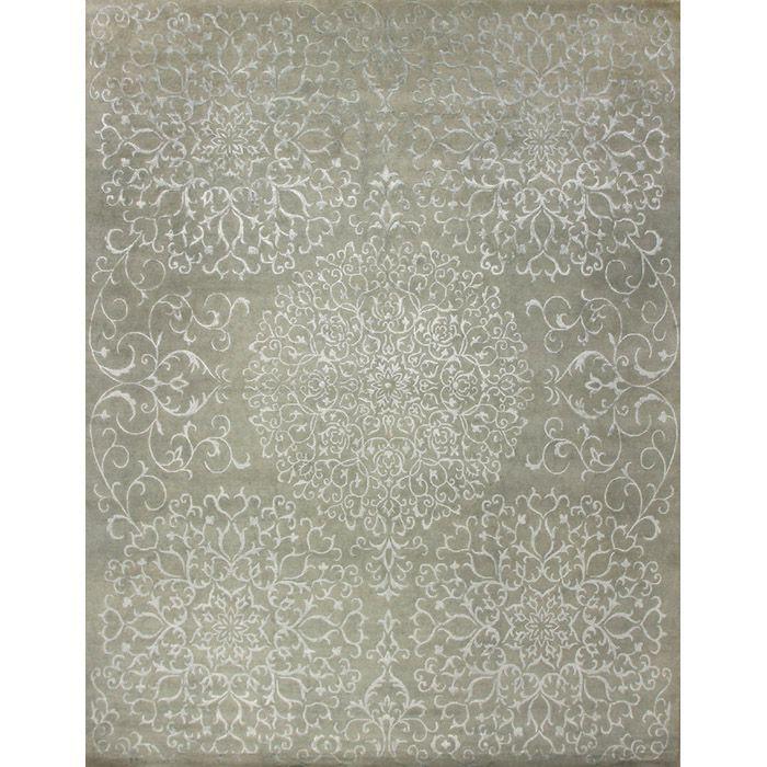 Серый ковер «Византийский мотив» Ankara Aqua