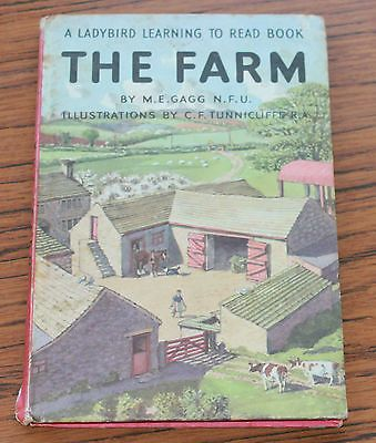 VINTAGE LADYBIRD BOOK * THE FARM by M.E. GAGG * Series 563 2'6