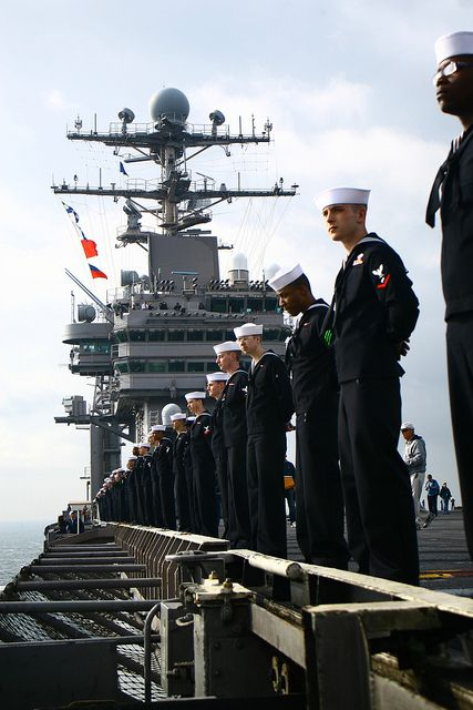 Can't wait to see this :) Whenever they pull into home port, they line up on the carrier! - Help Us Salute Our Veterans by supporting their businesses at www.VeteransDirectory.com, Post Jobs and Hire Veterans VIA www.HireAVeteran.com Repin and Link URLs