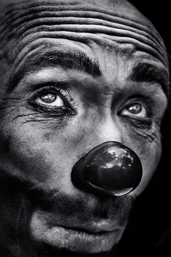 ♂ Black & white photography man portrait The eyes of the clown by Camilo Alvarez