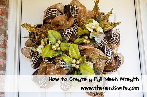 DIY Fall Mesh Wreath