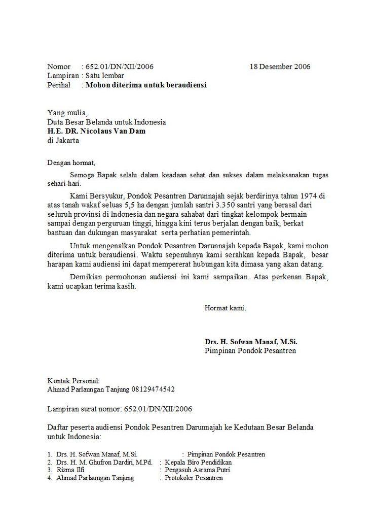 Contoh Surat Masuk Dinas Perusahaan Surat F